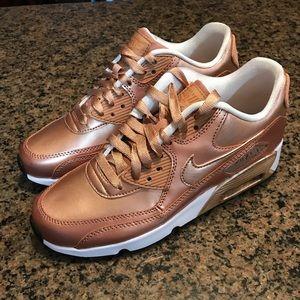 Nike Air Max 90 Se LTR Metallic Bronze 859633 900 NWT